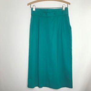 STUNNING Vintage Teal High Waisted Pocket Skirt